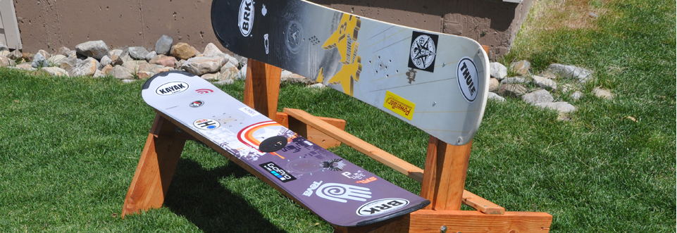 ... to a wood bench to build a snowboard bench seat we love this snowboard